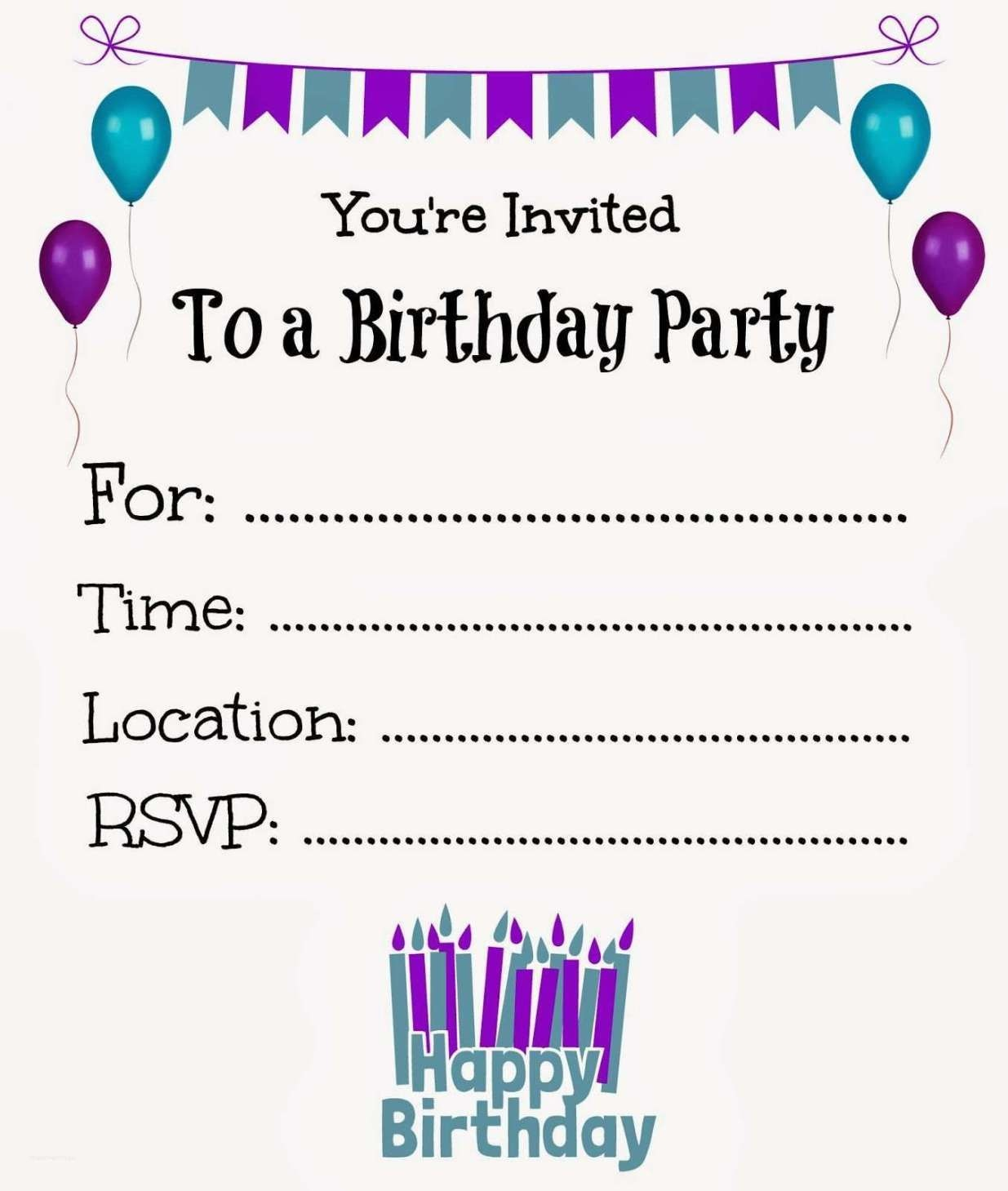New Free Online Printable Birthday Party Invitations | Online - Birthday Party Invitations Online Free Printable