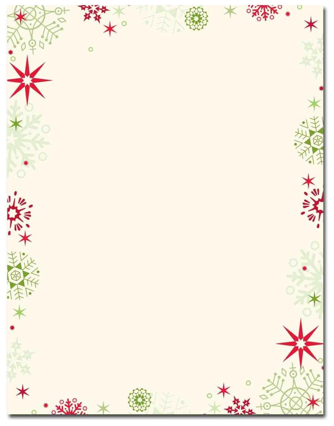 New Free Printable Christmas Stationary Borders At Temasistemi - Free Printable Letterhead Borders