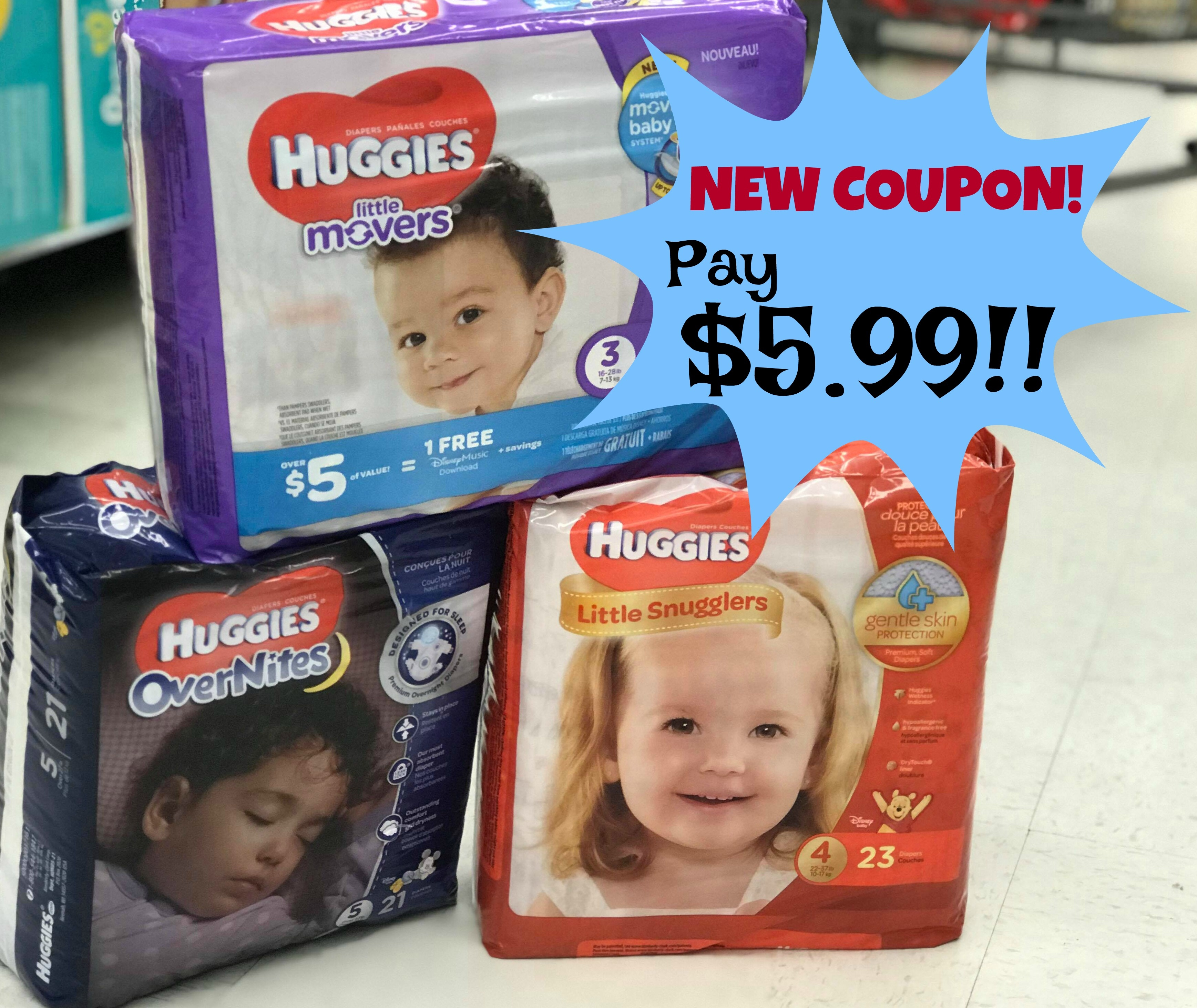 New Huggies Coupon | Diapers As Low As $5.99 With Kroger Mega Event - Free Printable Coupons For Baby Diapers
