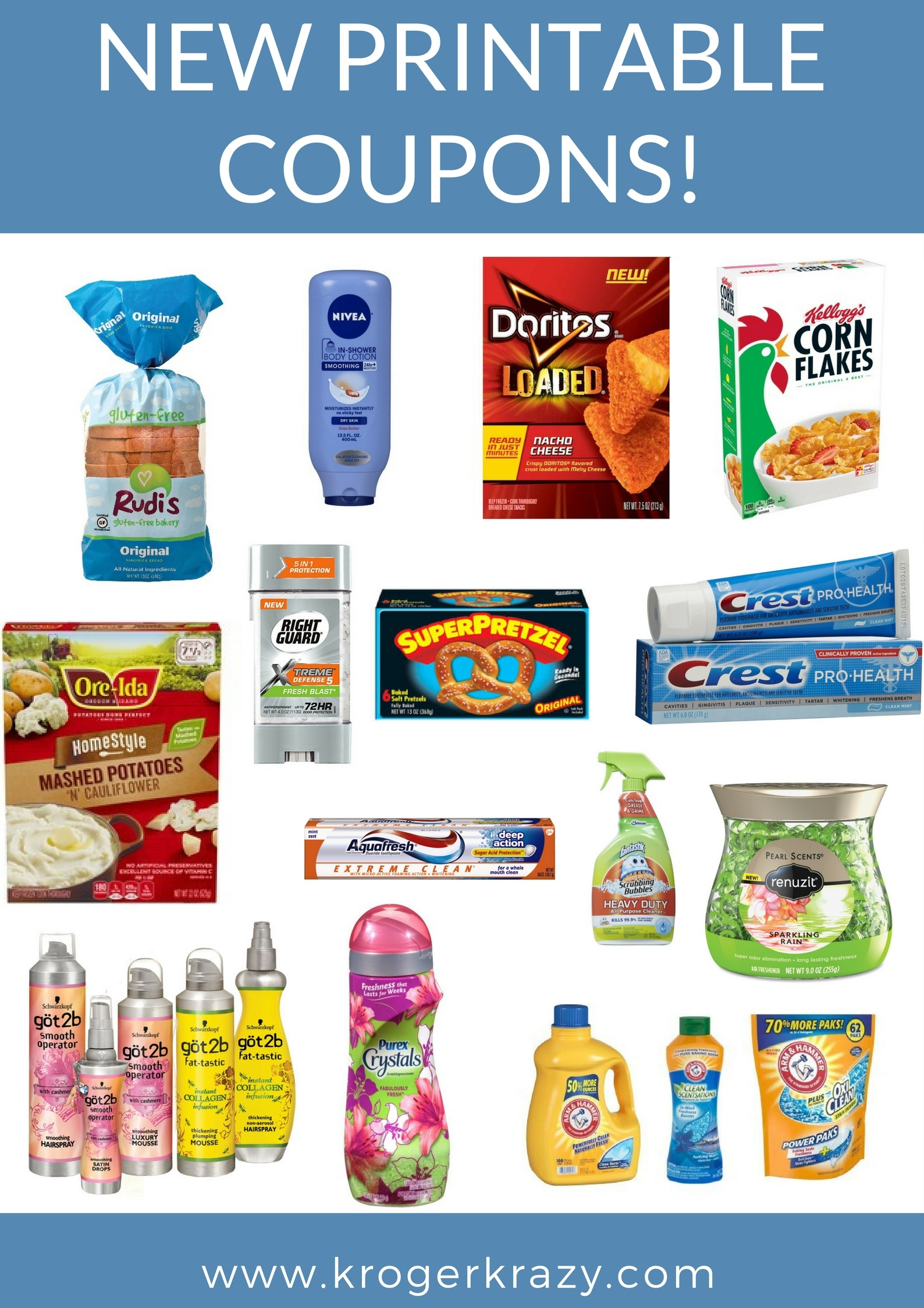 New Printable Coupons! Arm & Hammer, Crest, Colgate, Sargento & Much - Free Printable Crest Coupons