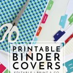 New To The Organization Toolbox: Printable Binder Covers And Tabs   Free Printable School Binder Covers