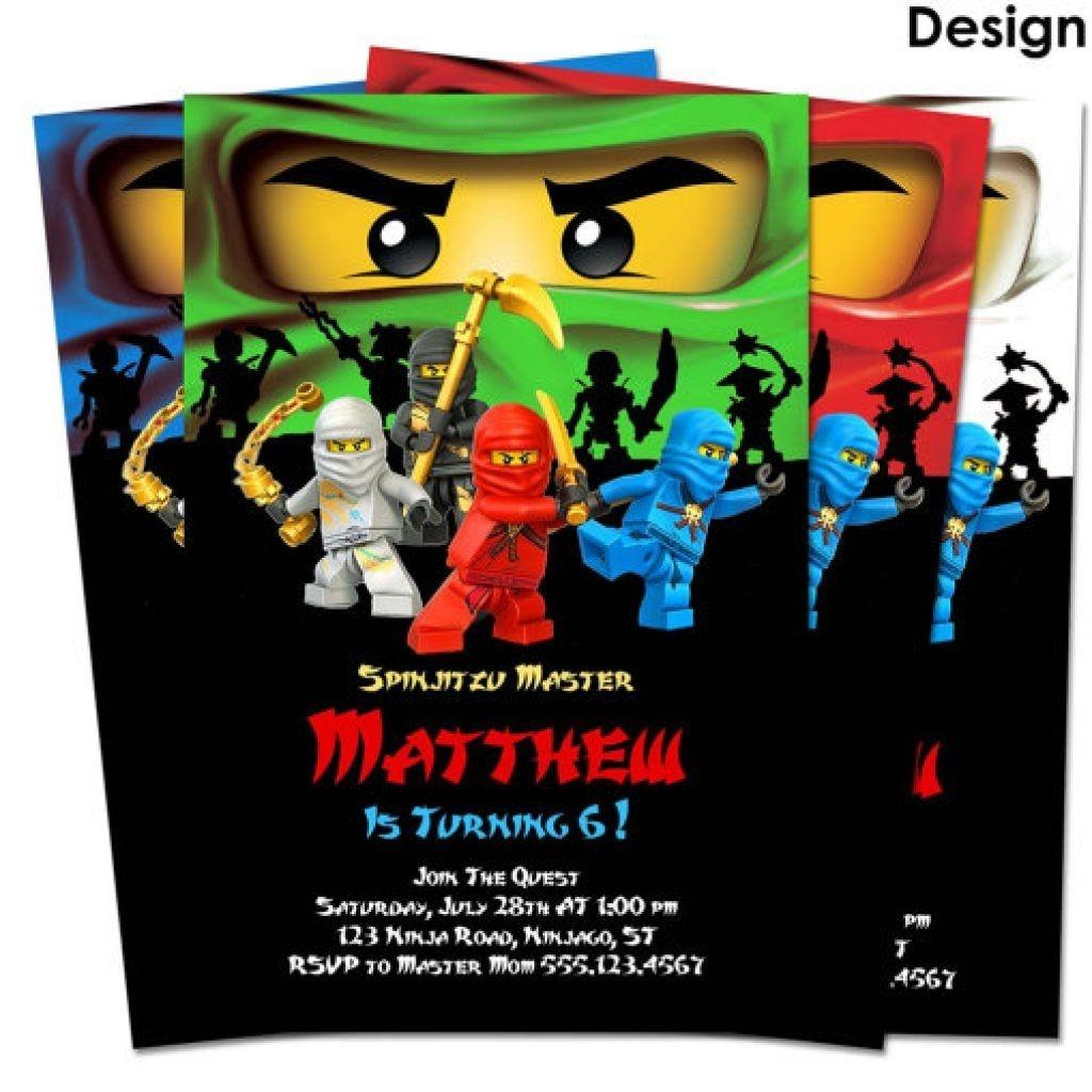 Ninjago Birthday Invitations Template No2Powerblasts | Remigi's Lego - Lego Ninjago Party Invitations Printable Free
