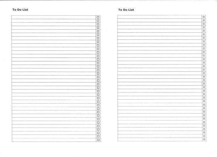 Free Printable Numbered List