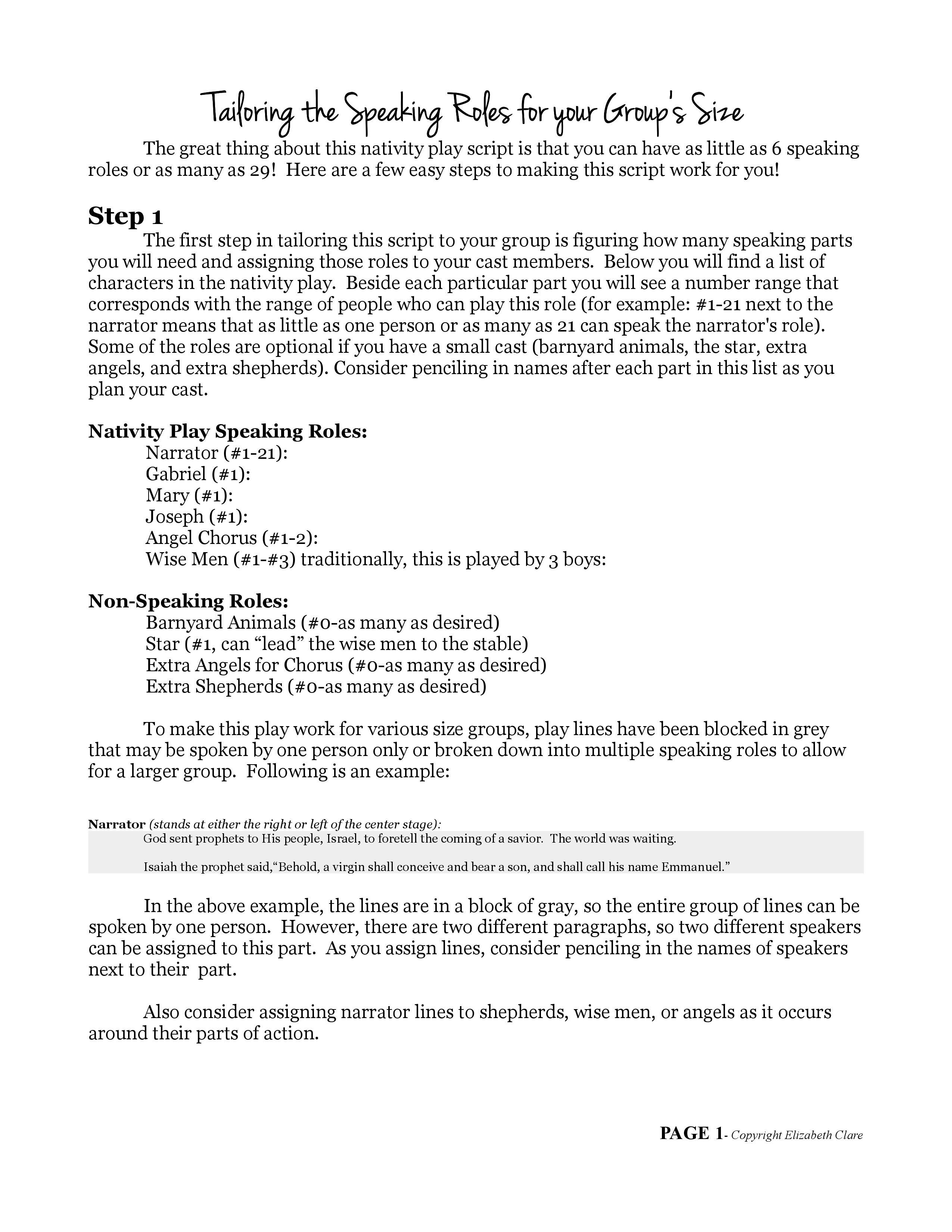 """O Come Emmanuel"""": A Nativity Play Script   Christmas Pageant - Free Printable Christmas Plays For Sunday School"""