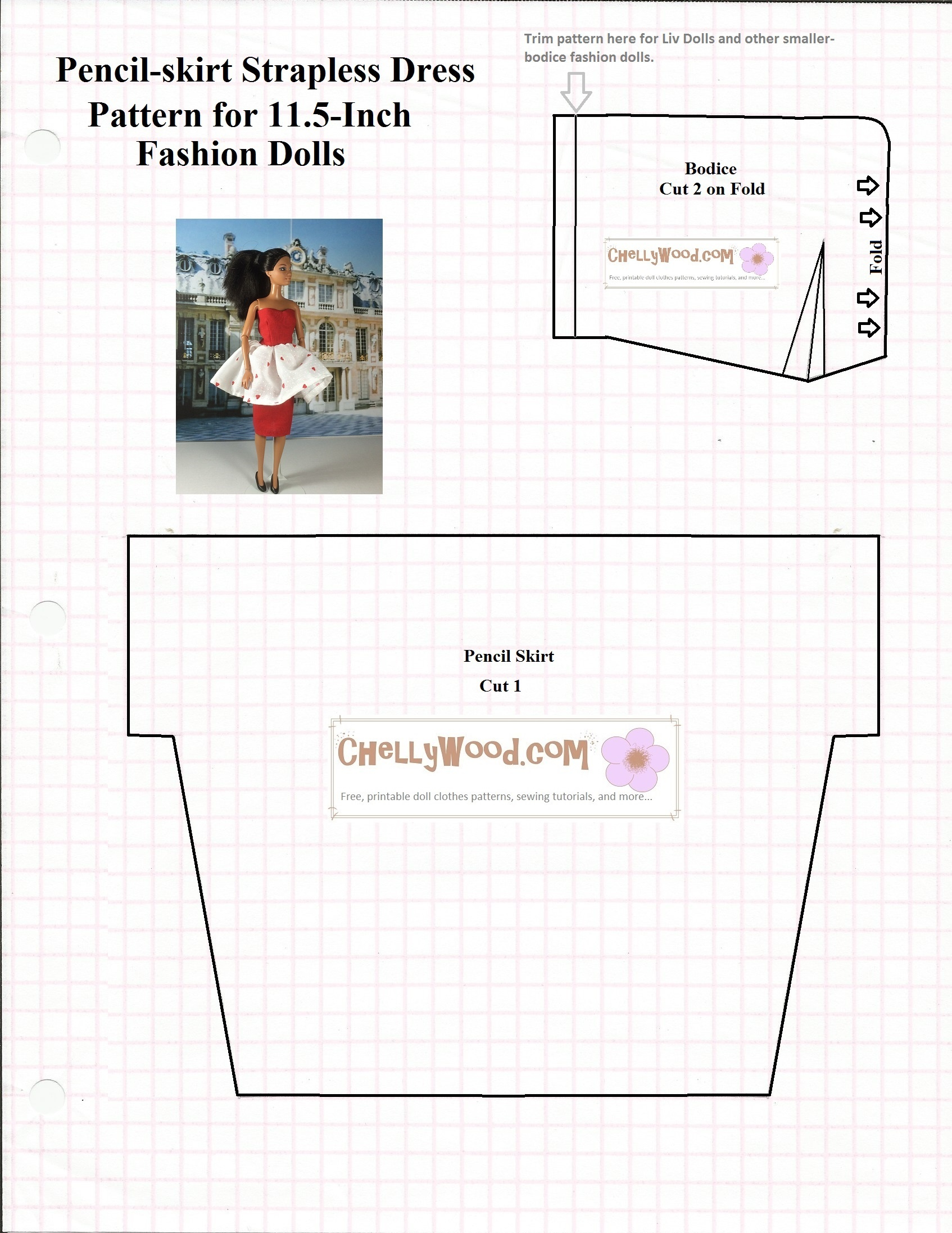 Old Pattern Page – Free, Printable Doll Clothes Sewing Patterns For - Free Printable Patterns For Sewing Doll Clothes