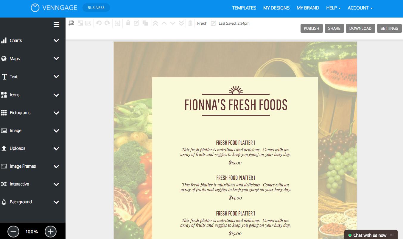 Online Menu Maker - Make A Menu With Venngage - Design A Menu For Free Printable