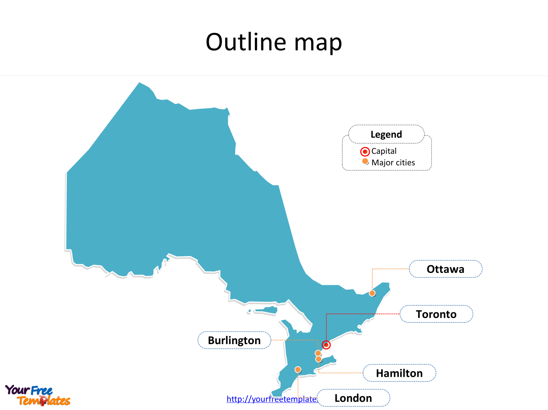 Ontario Map Powerpoint Templates - Free Powerpoint Templates - Free Printable Map Of Ontario