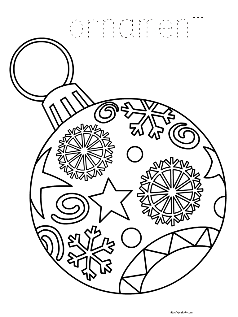Ornaments Free Printable Christmas Coloring Pages For Kids | Paper - Free Printable Christmas Coloring Pages