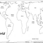 Outline Base Maps – Free Printable Map Of Continents And Oceans