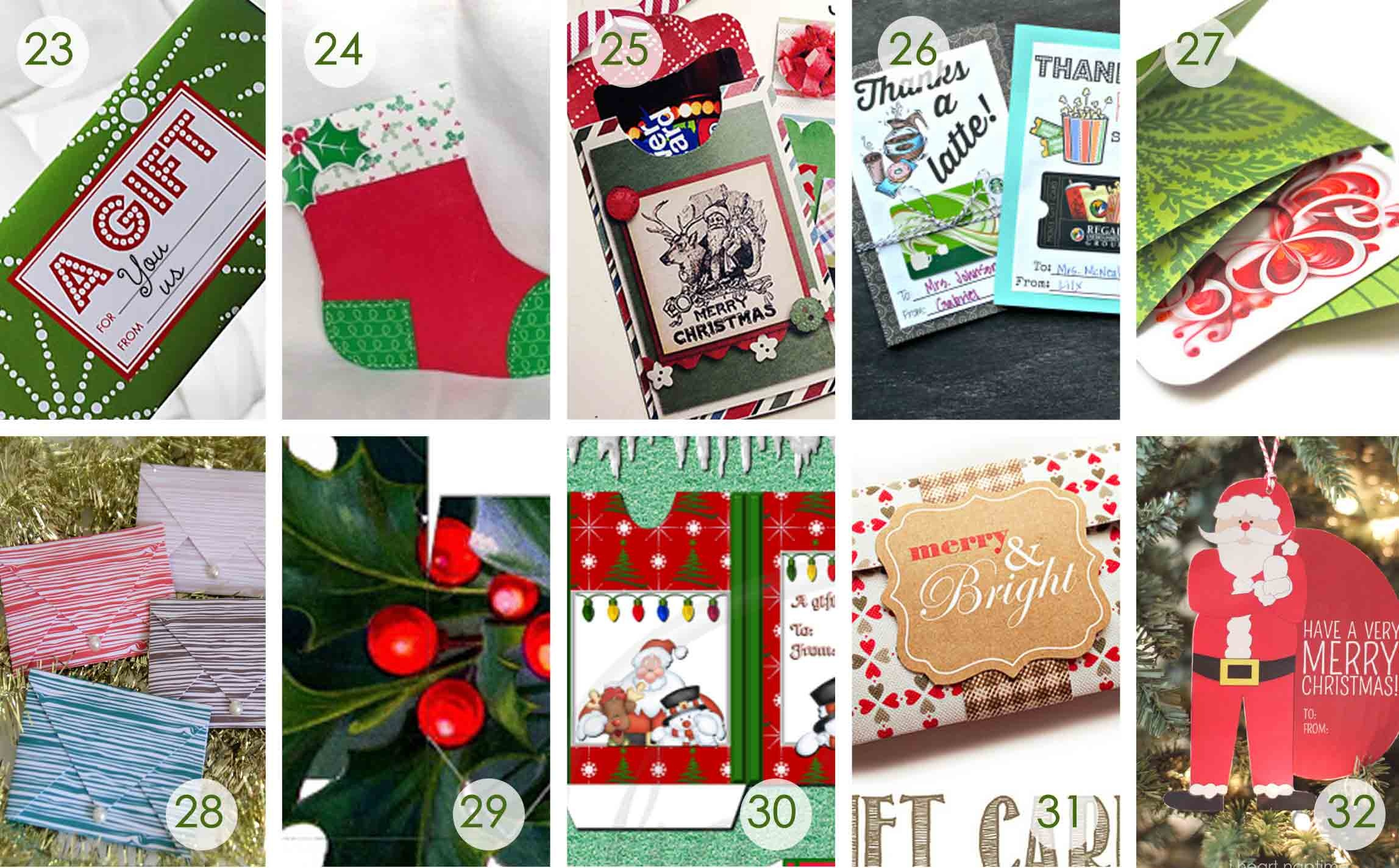 Over 50 Printable Gift Card Holders For The Holidays   Gcg - Free Printable Christmas Money Holder Cards