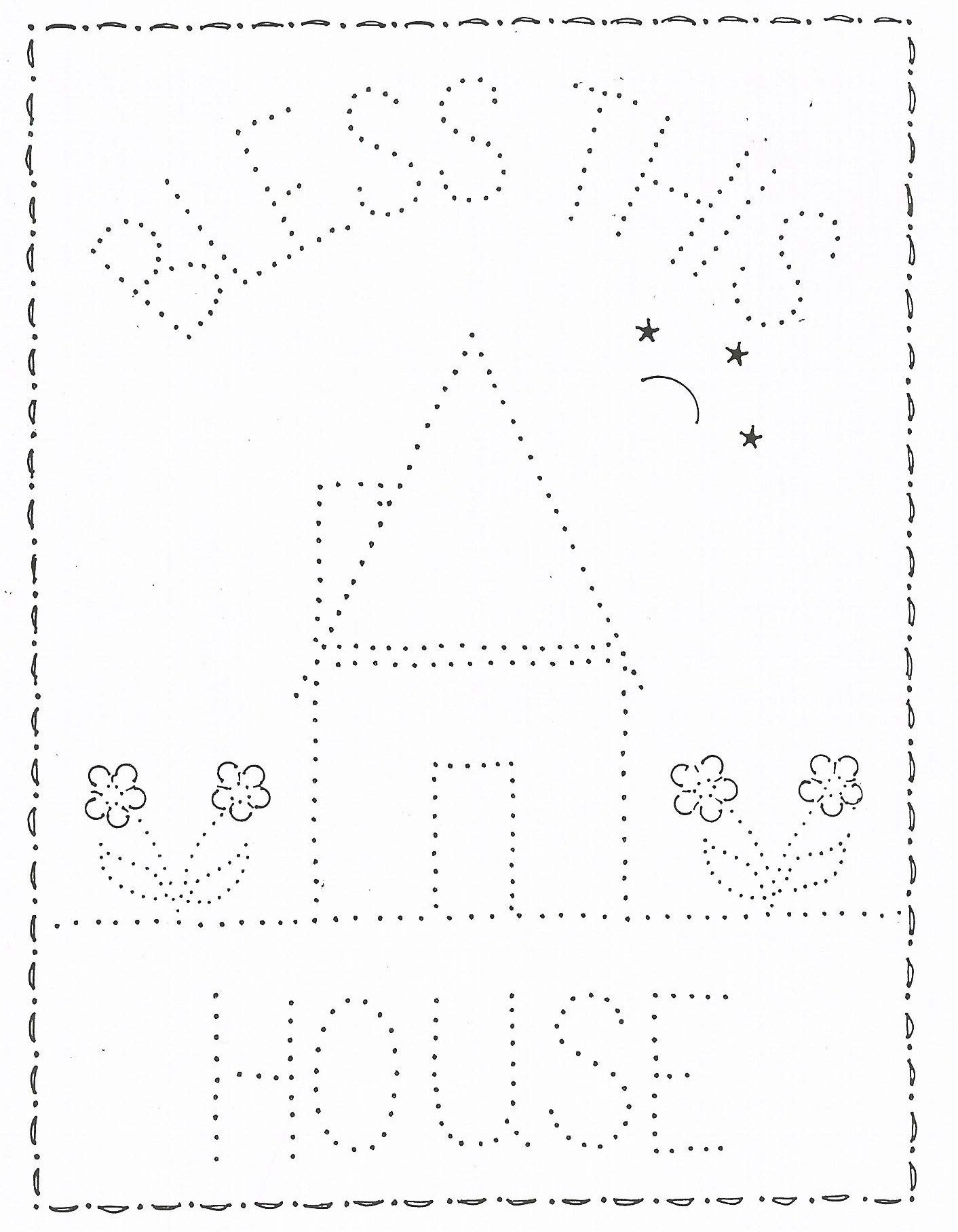 P 1207 Bless This House 11X14   Tin Punching/embossing   Punched Tin - Printable Tin Punch Patterns Free