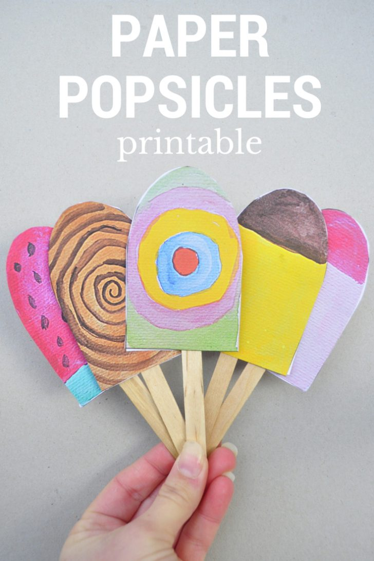 Free Printable Popsicle Template