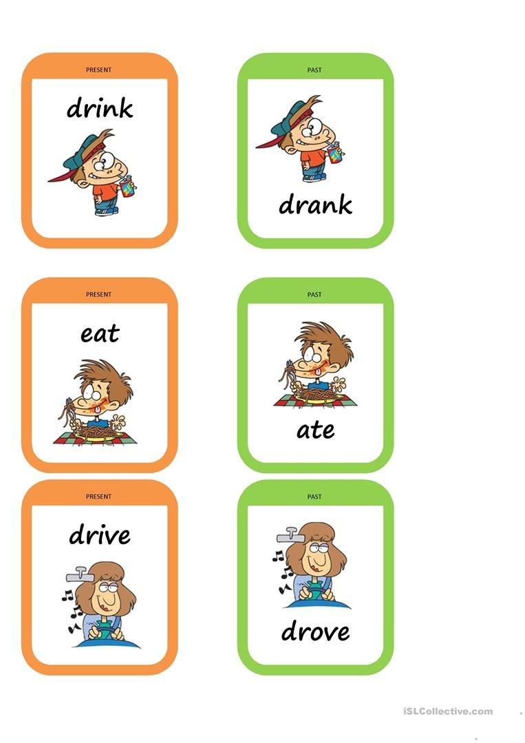 Past Tense Memory Game Worksheet - Free Esl Printable Worksheets - Free Printable Memory Exercises