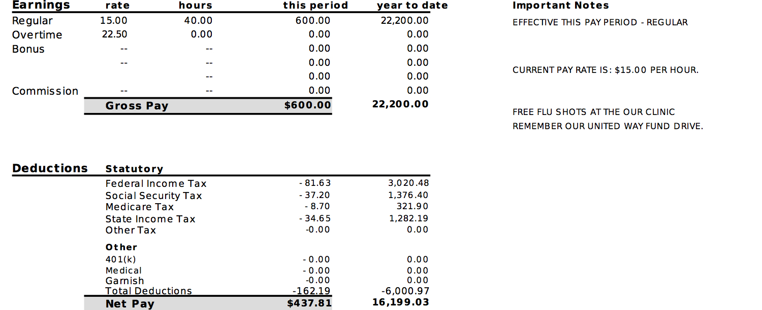 Pay Stub Info - Learn - Examples - Testimonials - Free Preview - Free Printable Pay Stubs Online