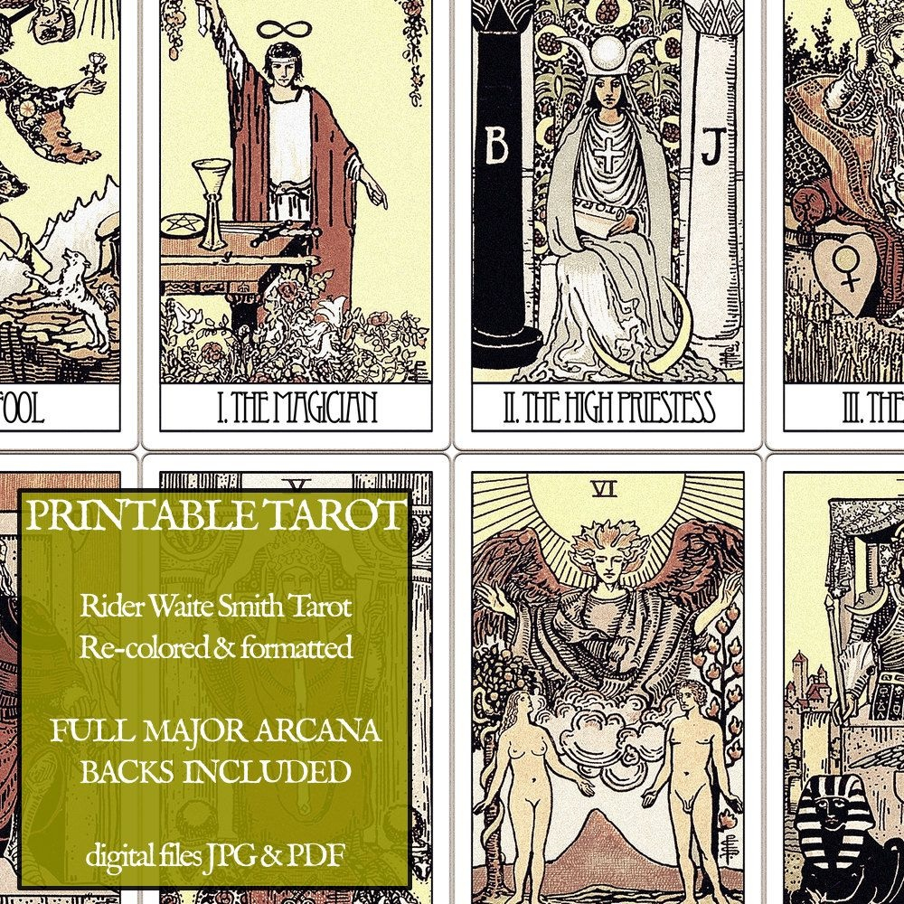 photograph regarding Printable Tarot Cards With Meanings Pdf identified as Tarot Conditioning Shade Your Individual! Tarot Cab - Printable