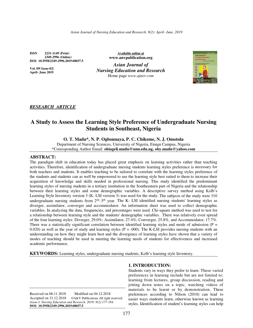 Pdf) The Kolb Learning Style Inventory—Version 3.1 2005 Technical - Free Learning Style Inventory For Students Printable