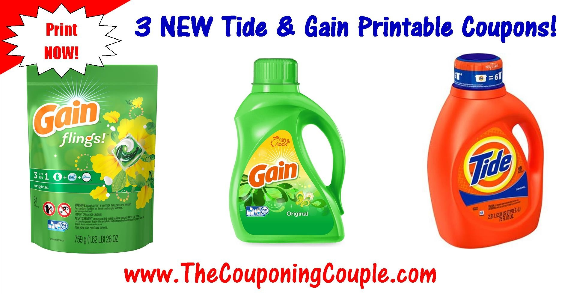 Pgeveryday New Gain Voucher 1 Off Any Gain Product Liquid Laundry - Free Printable Gain Laundry Detergent Coupons