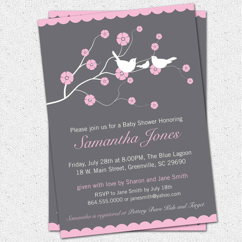 Photo : Printable Baby Shower Invitations Etsy Image - Free Printable Hello Kitty Baby Shower Invitations