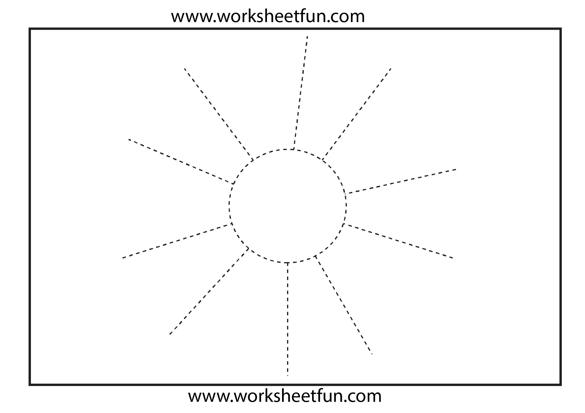 Picture Tracing Worksheet - Sun   Homeschool   Tracing Worksheets - Free Printable Preschool Worksheets Tracing Lines