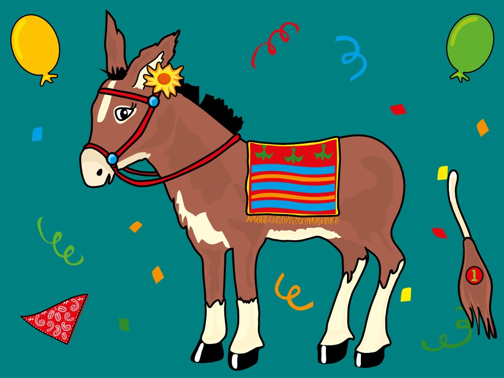 Pin The Tail On The Donkey Drawing At Paintingvalley   Explore - Pin The Tail On The Donkey Printable Free