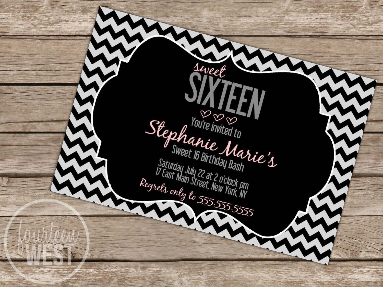 Pinamanda Schaberg On Sweet 16 In 2019   Birthday Invitations - Free Printable Sweet 16 Birthday Party Invitations