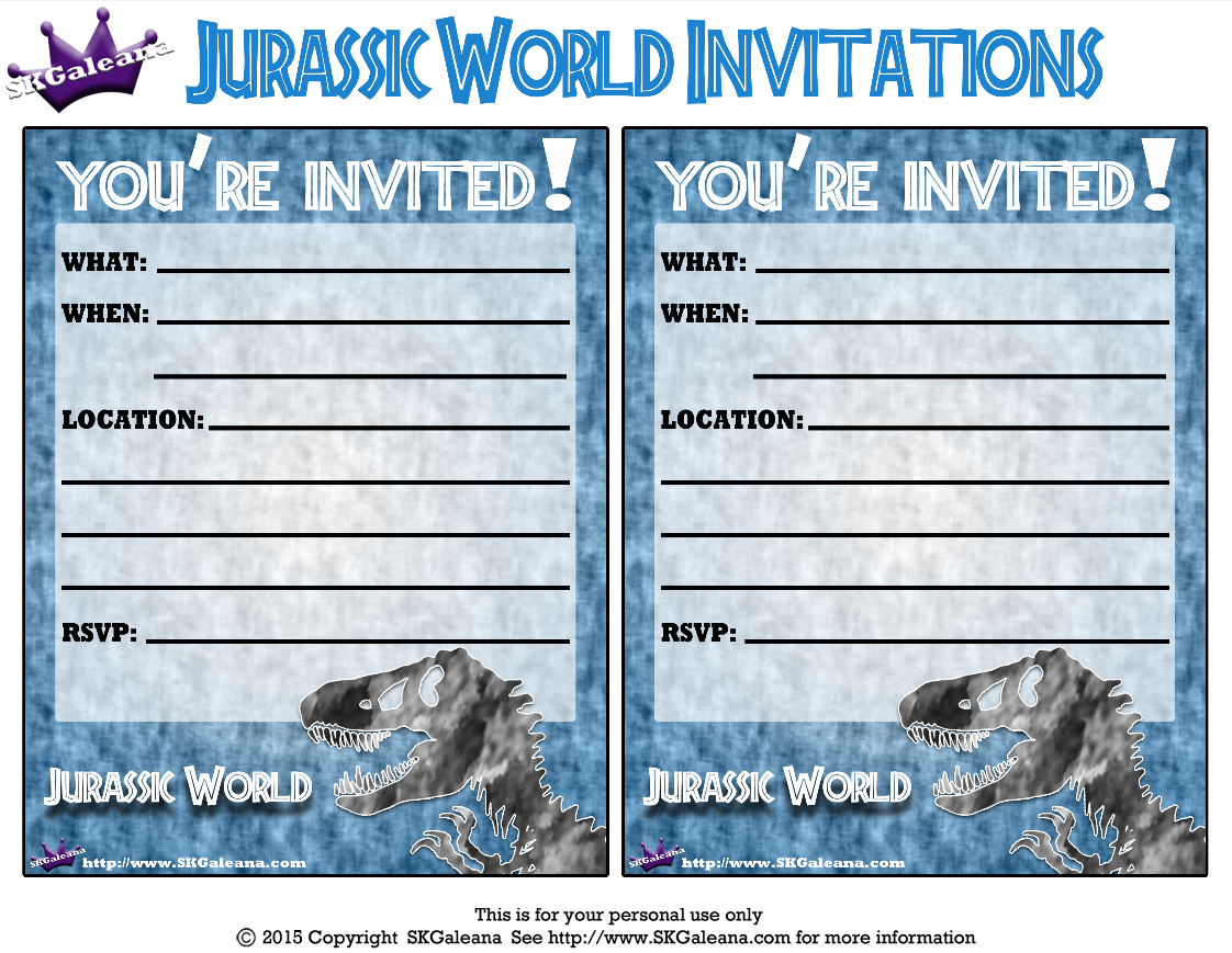 Pincrafty Annabelle On Dinosaurs Printables In 2019   Jurassic - Free Printable Jurassic Park Invitations