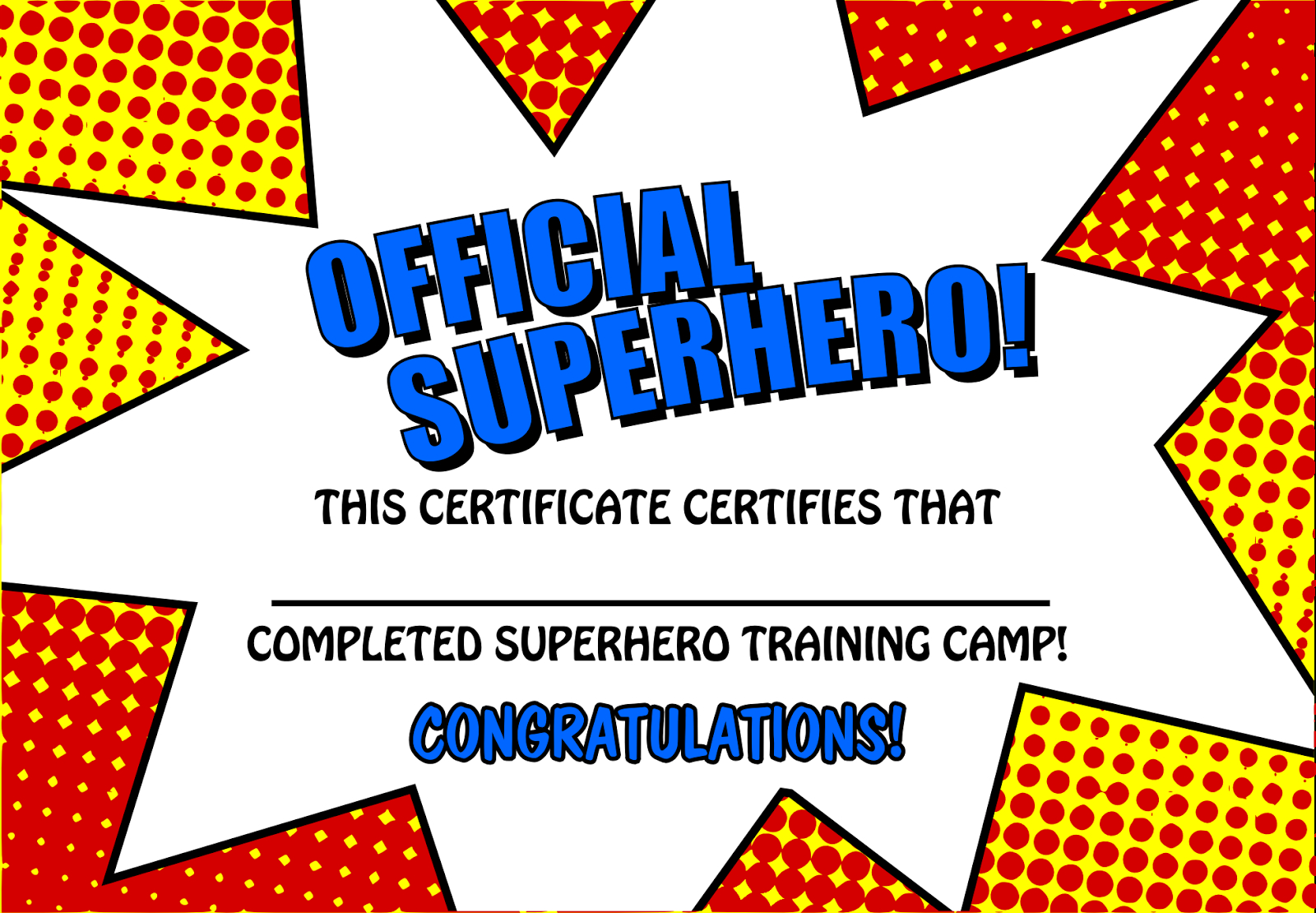 Pincrafty Annabelle On Super Heros Printables | Superhero Party - Free Printable Superhero Certificates