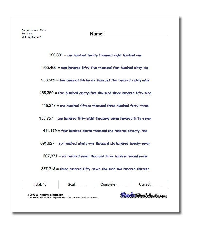 Pindadsworksheets On Math Worksheets | Printable Math - Free Printable Expanded Notation Worksheets