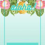 Pineapple Luau Perimeter - Free Printable Birthday Invitation - Free Printable Luau Clipart