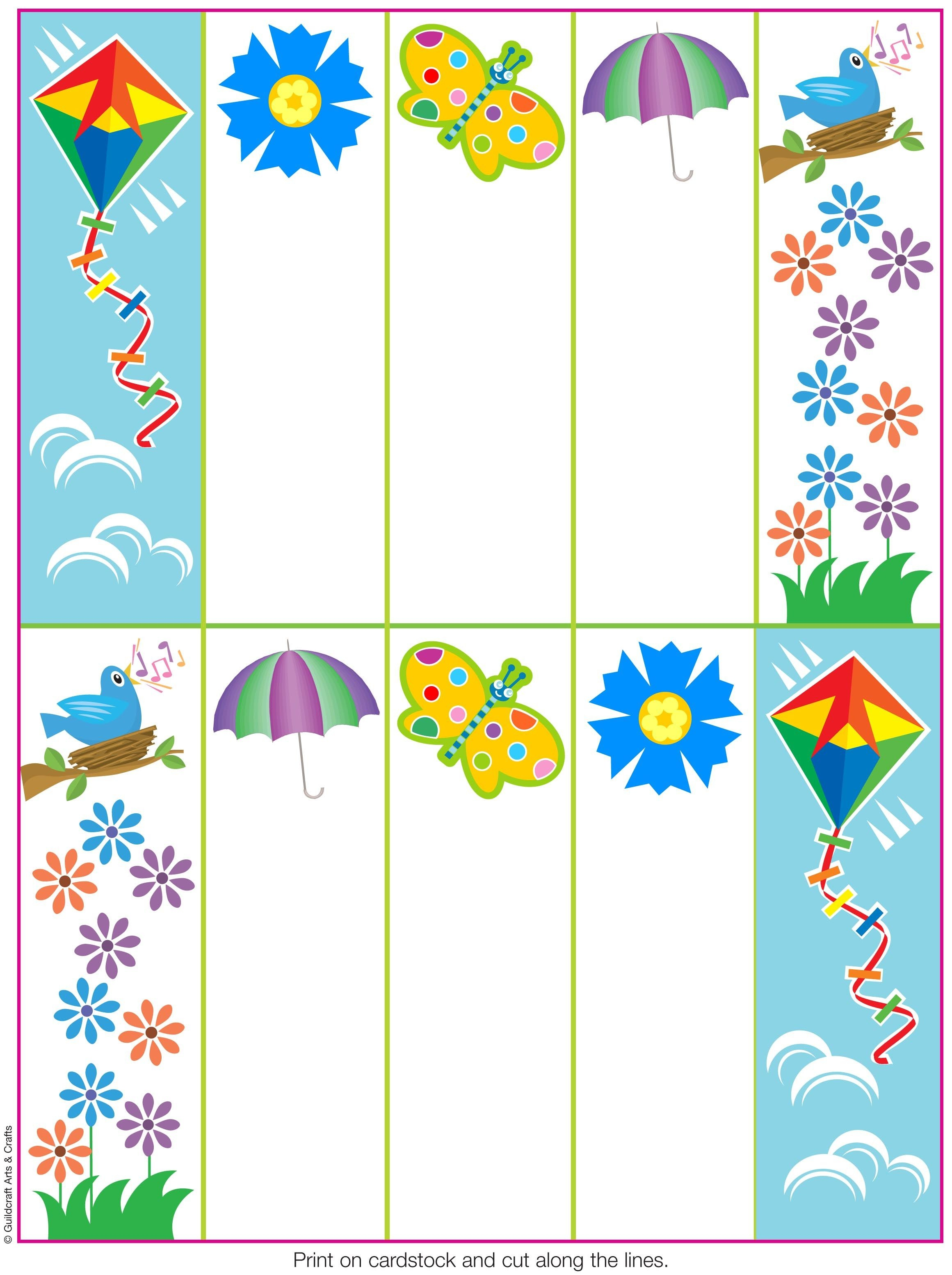 Pinguildcraft Arts & Crafts On Printables   Bookmarks, How To - Free Printable Spring Bookmarks