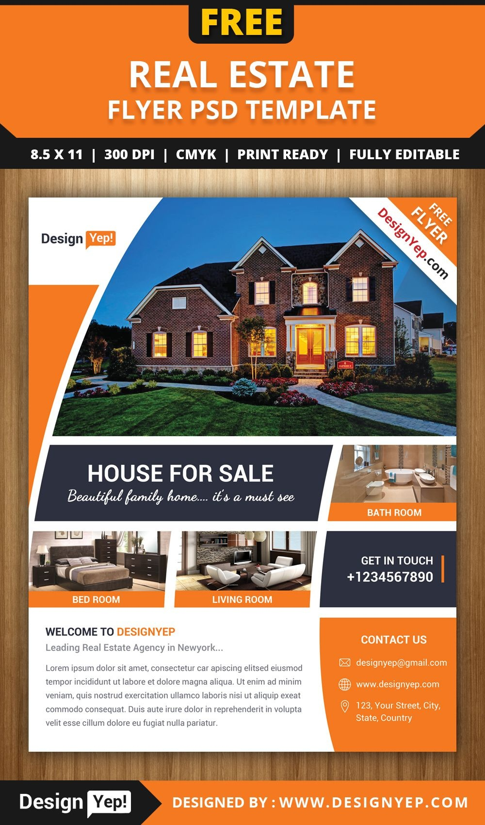 Pinsara On Design | Real Estate Flyer Template, Real Estate - Free Printable Real Estate Flyer Templates