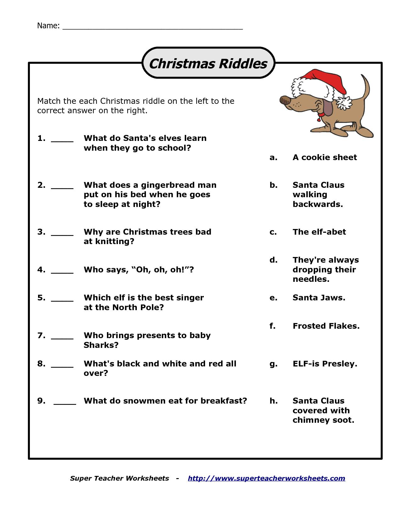 Pinsarah On Christmas | Christmas Riddles, Christmas Printables - Free Printable Riddles With Answers