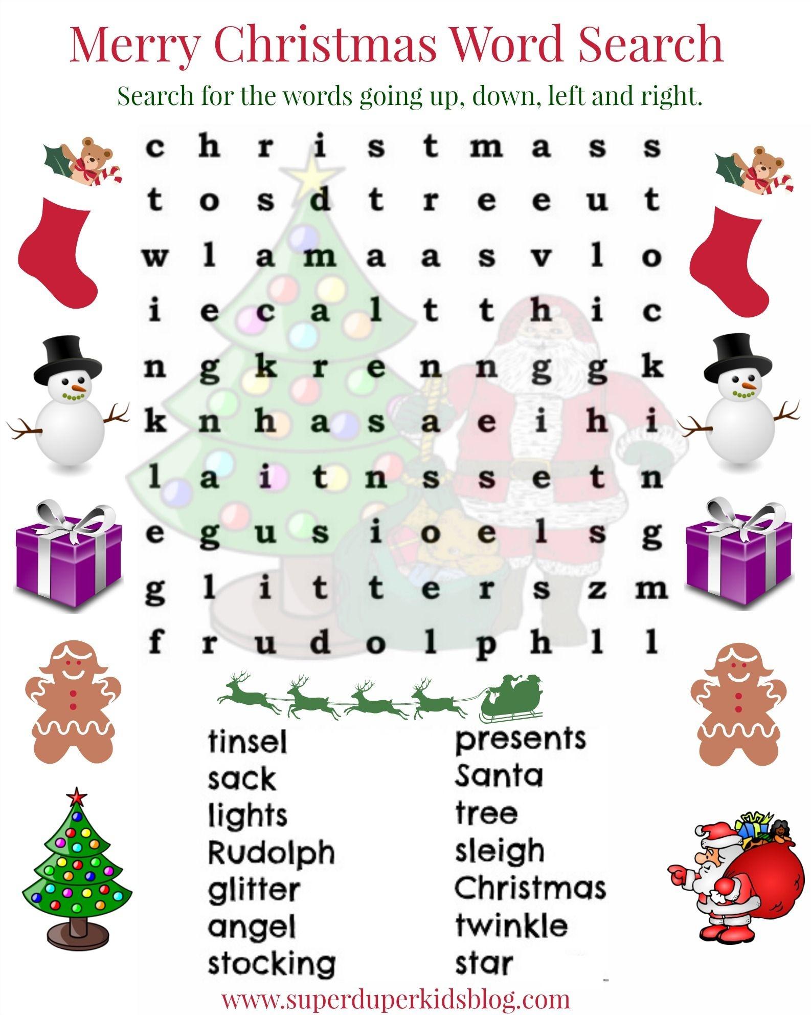 Pinsuperduperkidsblog On Free Printables   Christmas Word Search - Free Printable Christmas Word Search