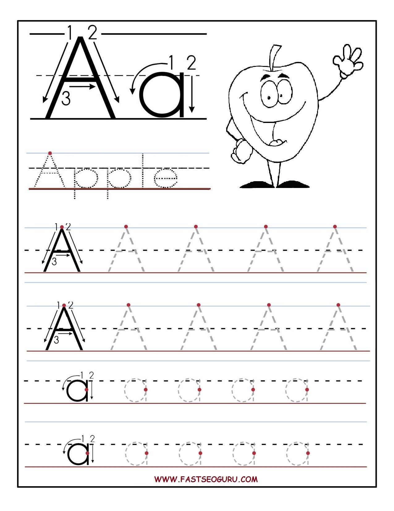 Pinusborne Books And More On Kiddo's Home Learning | Letter - Free Printable Traceable Letters