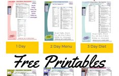 Printable 1200 Calorie Paleo Diet For 6 Days Plus Grocery List – Free Printable 1200 Calorie Diet Menu