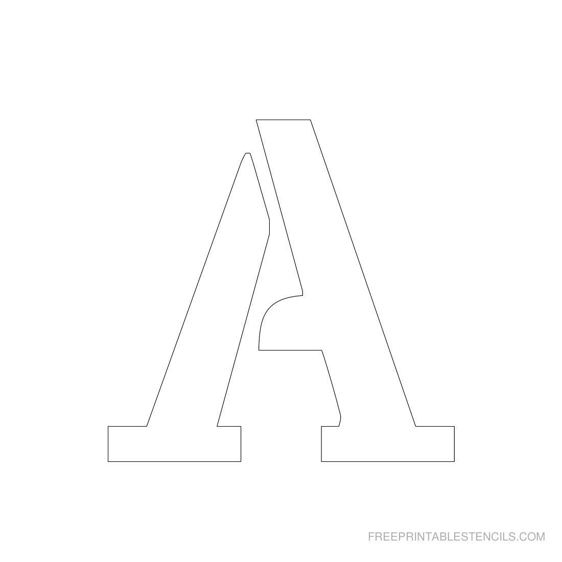 Printable 3 Inch Letter Stencil A--Has Full Alphabet   Typography - Free Printable 8 Inch Letters