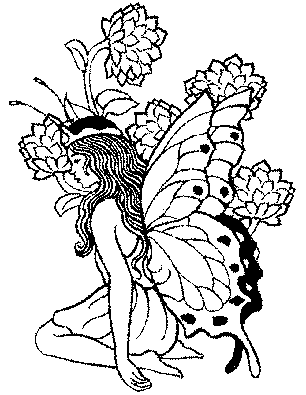 Printable Adult Coloring Pages Fairy - Coloring Home - Free Printable Coloring Pages Fairies Adults