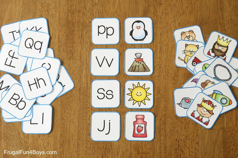 Printable Alphabet Memory Game Cards - Frugal Fun For Boys And Girls - Free Printable Alphabet Games