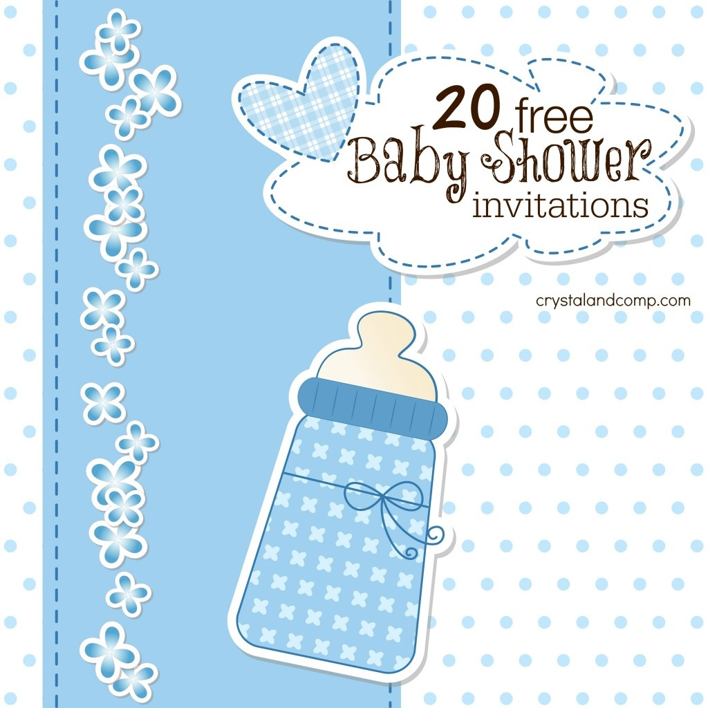 Printable Baby Shower Invitations - Free Printable Baby Sprinkle Invitations