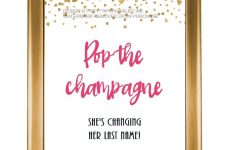 Printable Bachelorette Party Sign / Pop The Champagne Sign / | Etsy – Free Printable Bachelorette Signs
