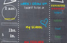 Printable Back-To-School Chalkboard Sign | #neverdonewithfun – Free Printable First Day Of School Chalkboard Signs