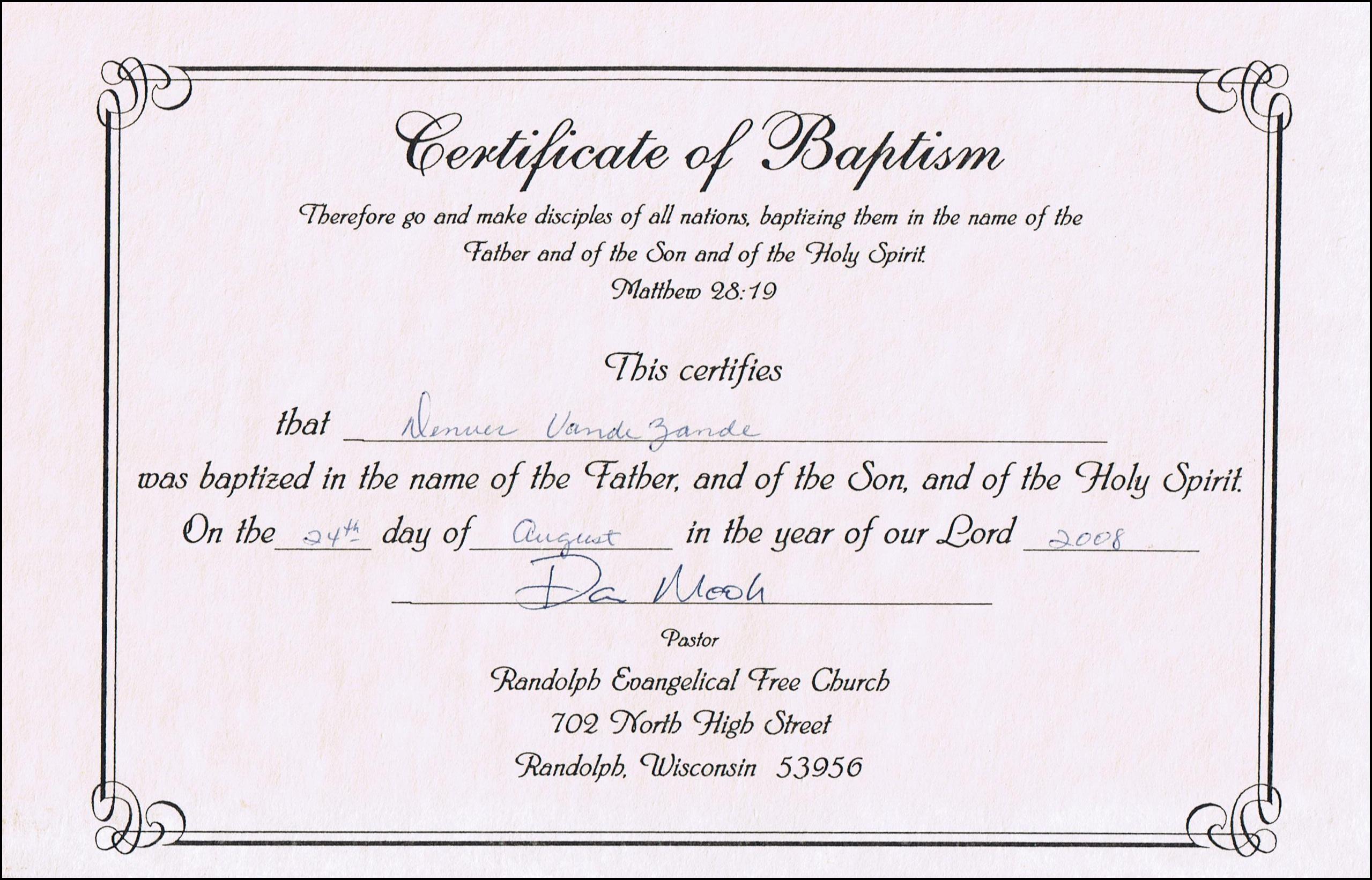 Printable Baptism Certificate - Kaza.psstech.co - Free Online Printable Baptism Certificates