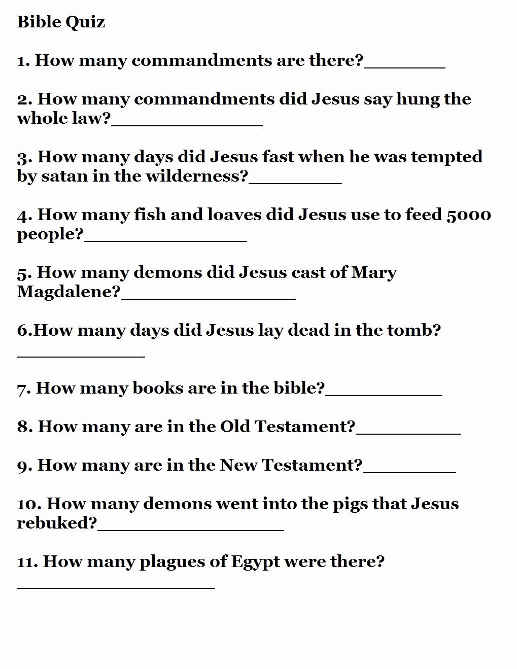 Printable Bible Trivia And 15 Easy Bible Trivia Questions – Rtrs.online - Free Printable Bible Trivia For Adults