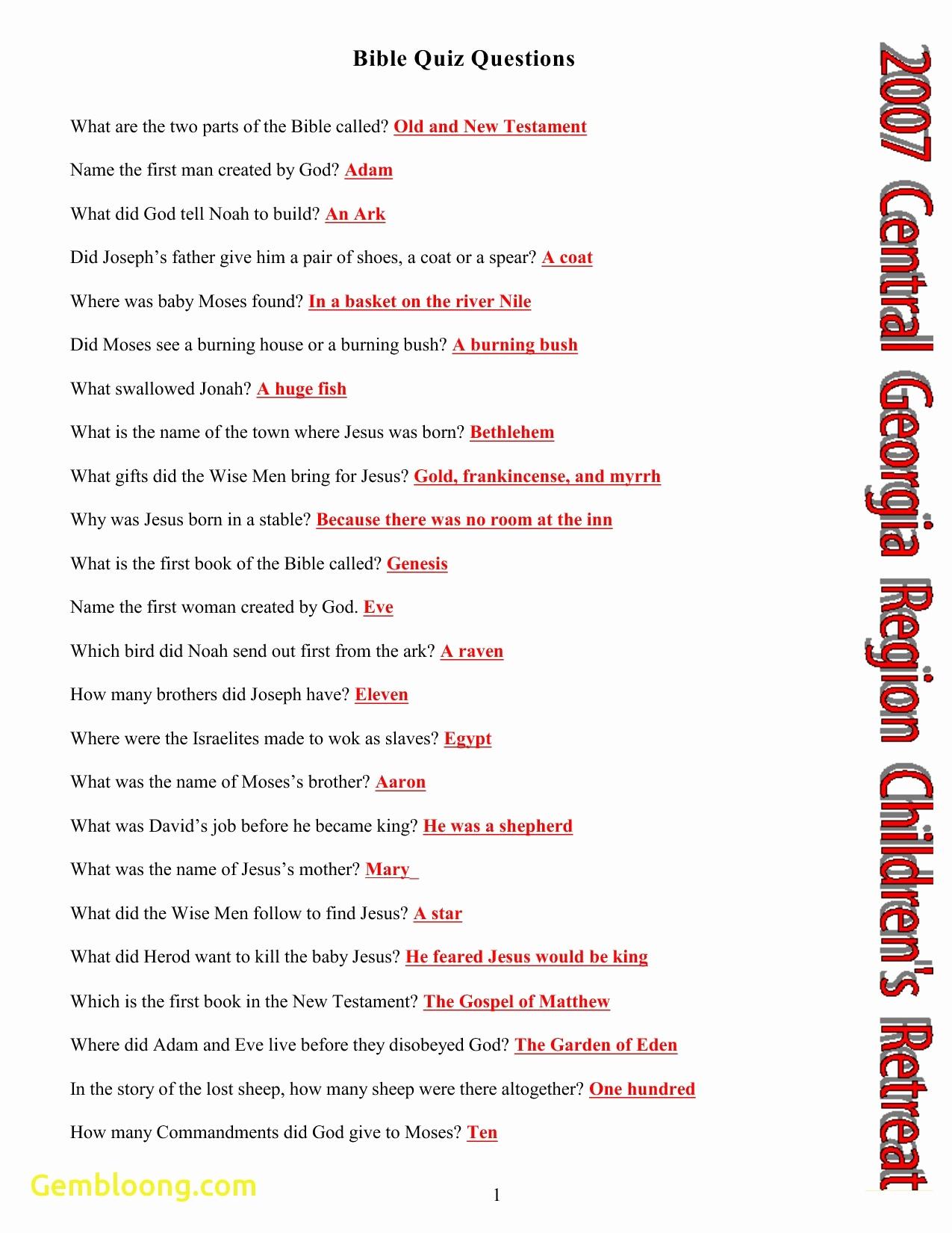 Printable Bible Trivia And Beautiful Printable Bible Trivia - Free Printable Bible Trivia For Adults