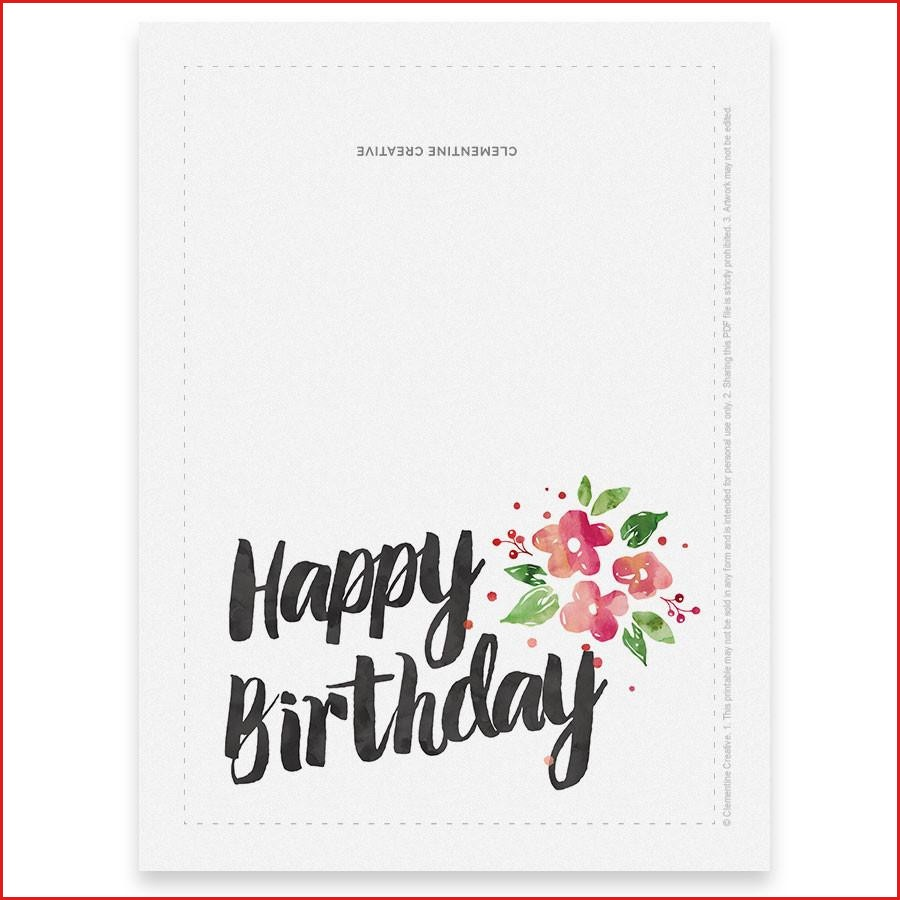 Printable Birthday Card For Her Clementine Creative Free Humorous - Free Printable Birthday Cards For Her