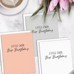 Printable Birthday Card Instant Download Digital Mini Greeting Card – Free Printable Birthday Cards For Her