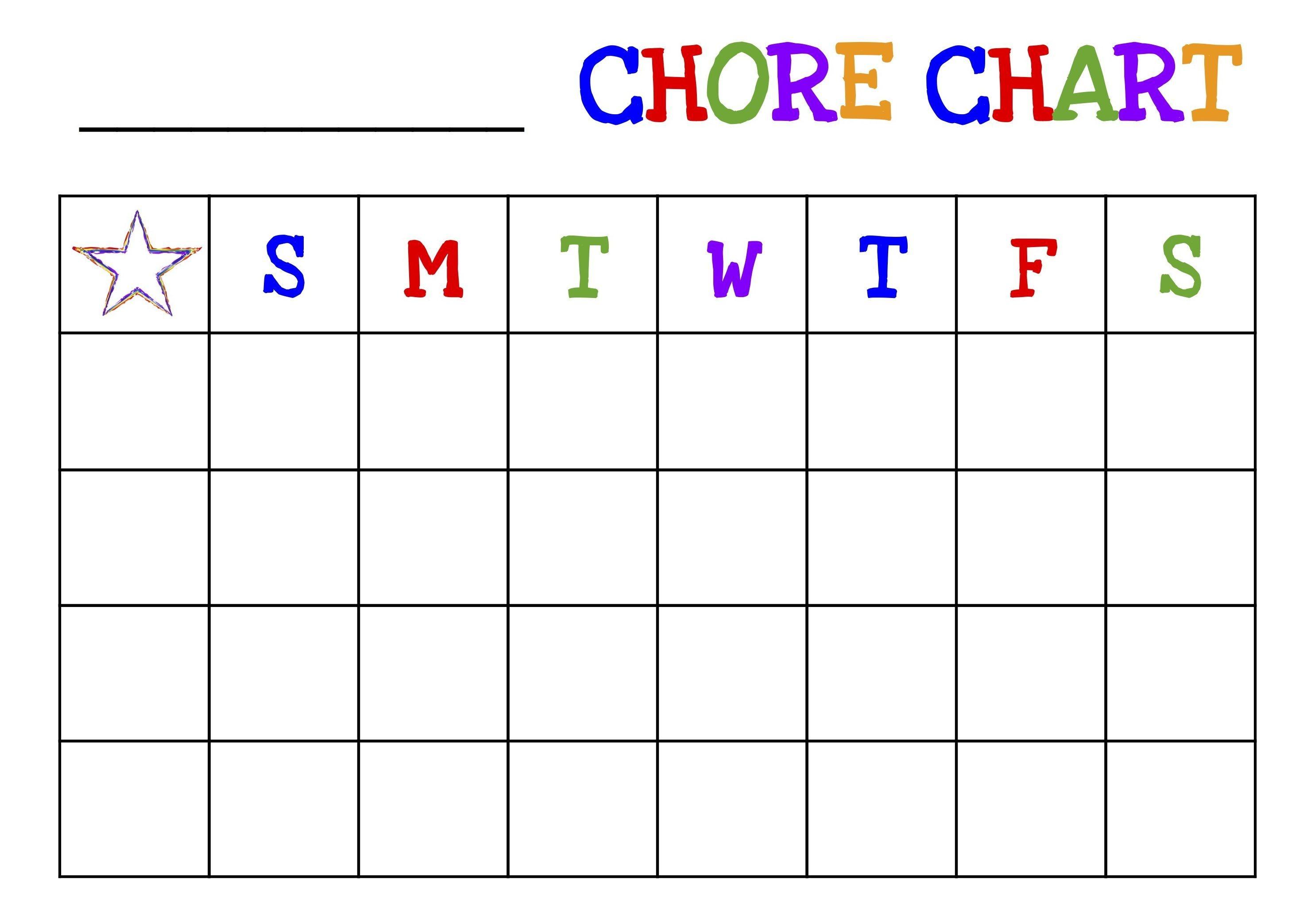 Printable Chore Charts Free | Acme Of Skill - Free Printable Job Charts For Preschoolers