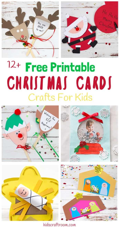 Printable Christmas Cards For Kids - Kids Craft Room - Free Printable Christmas Cards