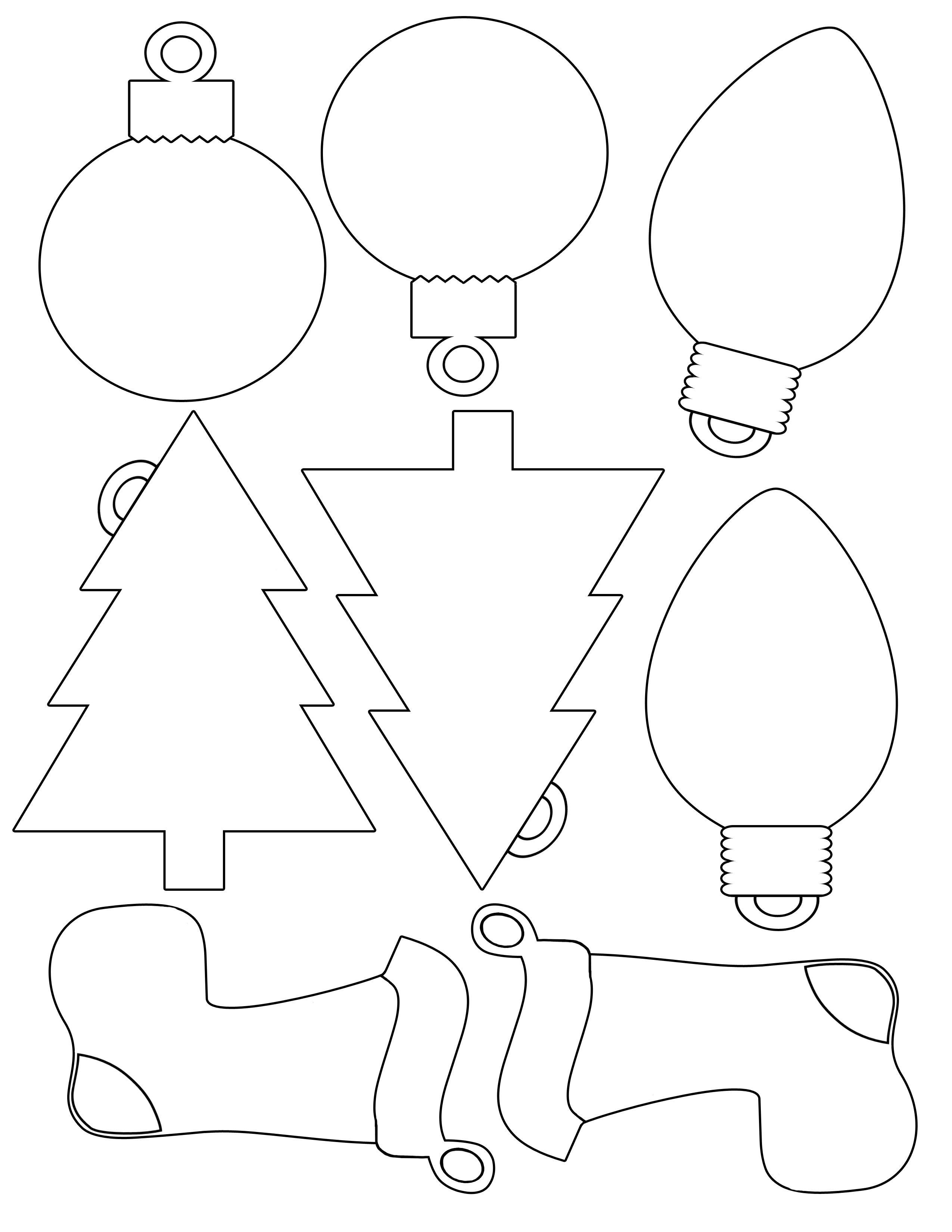 Printable Christmas Envelope    For Christmas Shapes For Gift - Free Printable Christmas Cutouts