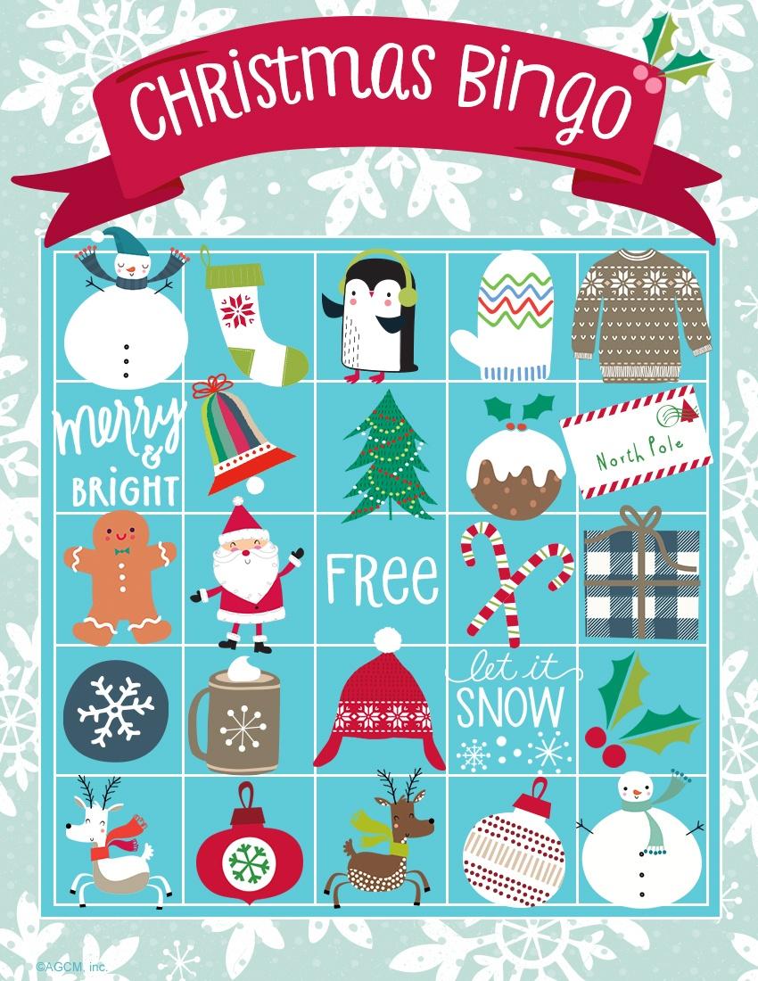 Printable Christmas Games   Blue Mountain - Free Printable Christmas Bingo